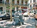 Levende standbeelden op de Ramblas, Spanje
