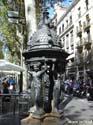 Beeldhouwwerk op de Ramblas, Barcelona