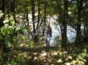 De Sava rivier buiten haar oevers, Slovenie