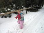 Rennen door de sneeuw, Eifel-Zoo, Duitsland