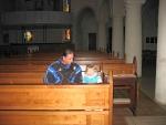 In een kerk in Bitburg, Duitsland