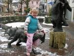 Geitenbeelden in Bitburg, Duitsland