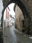 Naar de burcht in Kronenburg, Duitsland