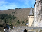 Uitzicht vanaf het kasteel van Vianden, Luxemburg
