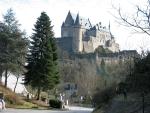 Het kasteel van Vianden, Luxemburg