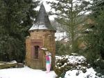 Een leuk torentje in de Eifel-Zoo, Duitsland
