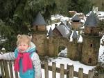 Miniatuurdorp in Eifel-Zoo, Duitsland