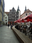Plein in Rothenburg ob der Tauer, Duitsland