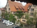 Uitzicht vanuit ons hotel, Rothenburg ob der Tauer, Duitsland