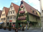 Terrasje in Rothenburg ob der Tauer