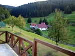 Uitzicht vanaf ons huisje, Schönbrunn, Duitsland