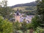 Uitzicht over Ilmenau, Duitsland