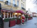 De kerstman in Brugge, Belgie