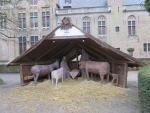 Kerststal in Brugge, Belgie