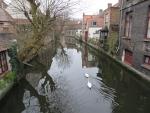 Gracht bij de Mariastraat in Brugge, Belgie