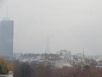 Eiffeltoren in de mist, Parijs