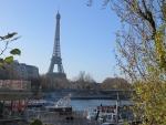 De Eiffeltoren  vanaf de Seine, Parijs