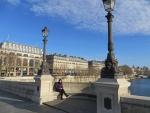Lies op de Pont Neuf, Parijs, Parijs