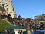 Mensenmassa bij Montmartre, Parijs