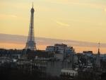 De Eiffeltoren in de ochtend, Parijs