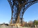 Een poot van de Eiffeltoren, Parijs