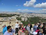 Uitzicht over Athene vanaf de Akropolis, Griekenland