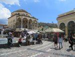 De wijk Plaka in Athene, Griekenland