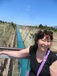 Het kanaal van Korinthe, Griekenland