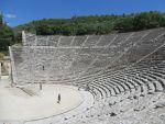 Het theater van Epidaurus, Griekenland