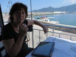 Op het terras in Plaka, Griekenland