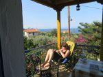 Het terras van ons appartement, Griekenland