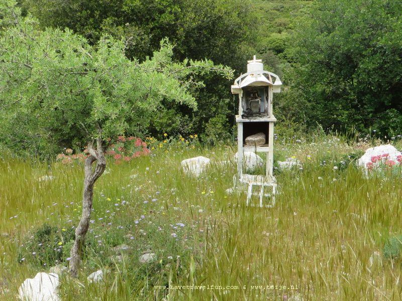 Ikonostasie-kapelletje langs de weg, Griekenland