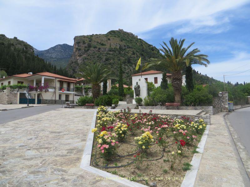 Pleintje in Mystras, Griekenland