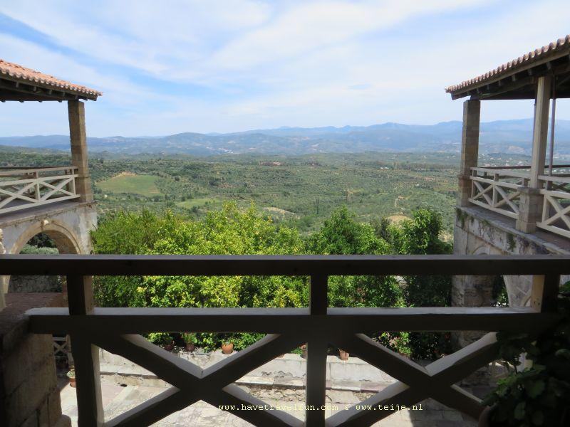 Uitzicht vanaf Mystras, Griekenland