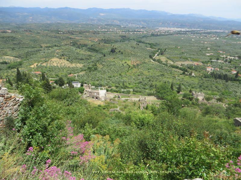 De vlakte van Sparta, Griekenland