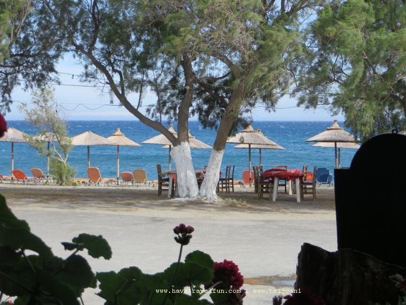 De kust bij Mavrovouni, Griekenland