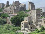 Het verlaten dorp Vathia, Griekenland