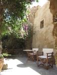 Terrasje op Monemvasia, Griekenland
