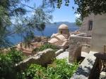 Uitzicht vanaf Monemvasia, Griekenland