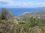 De kust bij Kalamata, Griekenland