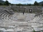 Amfitheater in Messini, Griekenland