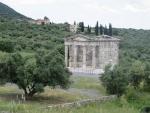 Heroon Dorische tempel , Messini, Griekenland