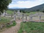 Uitzicht over het stadion en het Heroon, Messini, Griekenland