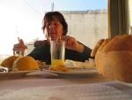 Lunchen in Kalo Nero, Griekenland