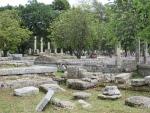 Restanten in Olympia, Griekenland