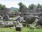 Stukken van zuilen, Olympia, Griekenland