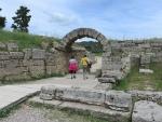 De toegang tot het stadion, Olympia, Griekenland