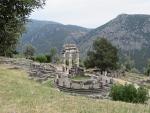 De Athene tempel in Delphi, Griekenland