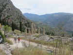 De tempel van Apollo in Delphi