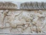 Oorlogsreliëf, museum Delphi, Griekenland